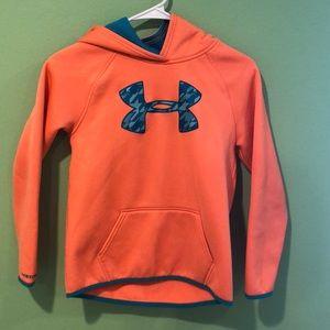 Orange under armor sweatshirt
